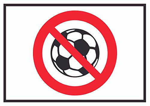 HB_Druck Ballspielen Prohibido Símbolo Placa - A0 (841x1189mm)