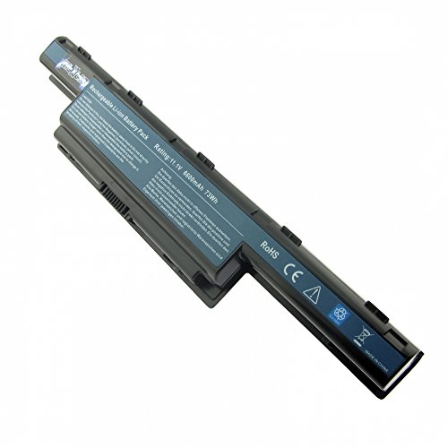 MTXtec Batería, LiIon, 10.8V, 6600mAh, Negro para Acer Aspire 5552G