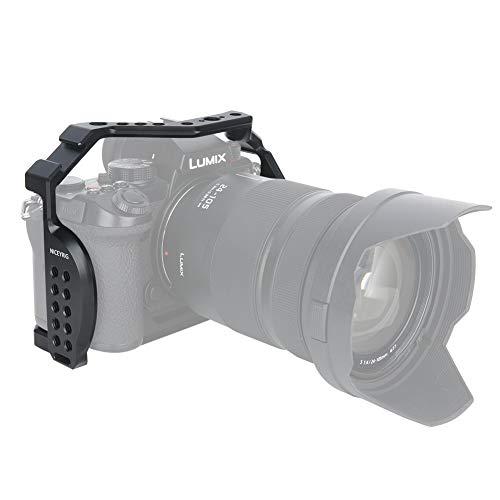NICEYRIG Jaula de cámara S5 para Panasonic LUMIX S5, con zapata fría NATO Rail y orificio de localización ARRI