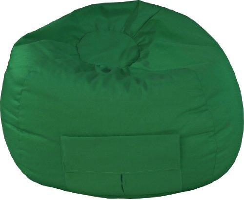 Gold Medal Bean Bags Medium Denim Beanbag, Tween Size, Green