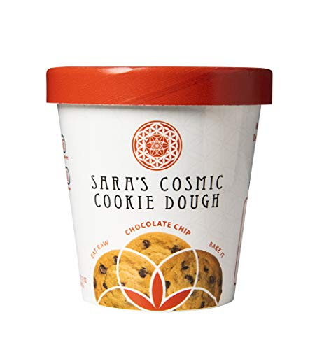 Sara's Cosmic Cookie Dough- Chocolate Chip All Natural Ingredients Gluten, Dairy & Egg FREE, Vegan and Paleo Friendly (Chocolate Chip, Single)