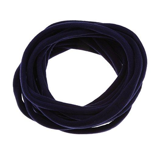 Sharplace Pieza de 10 Lazos para El Cabello, Diadema para El Cabello, Bandas Elásticas para El Cabello, Accesorios para El Cabello para Niñas, Regalo - Azul marino
