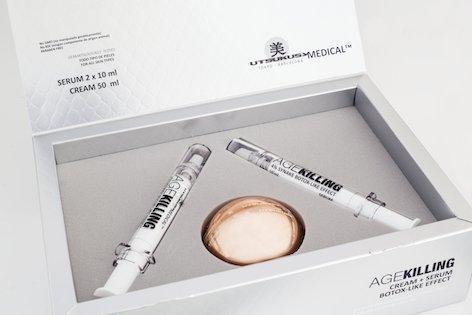 AgeKilling Set - Serum u. Gesichtscreme | Revolutionäre Anti-Aging u. Anti-Falten Behandlung | Botulinumtoxin-like | ideale Ergänzung zu Microneedling oder Plasma Pen...