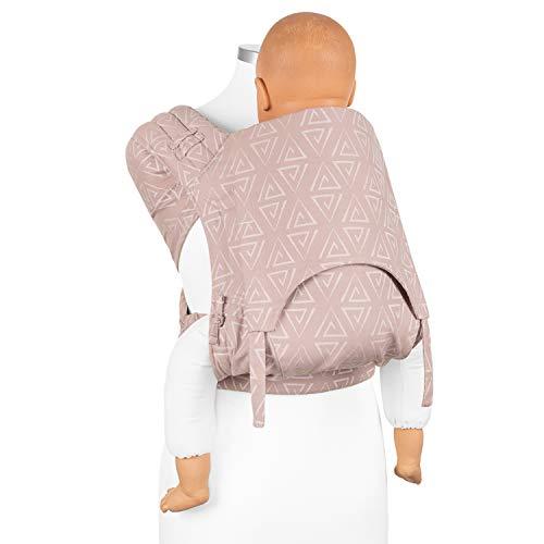 Fidella Fly Tai Babytrage - MeiTai Tragehilfe aus Tragetuchstoff - für TODDLER: ab 5 Monaten (bis 30kg) - 100% Bio-Baumwolle - verschiedene Designs und Farben I Rosa