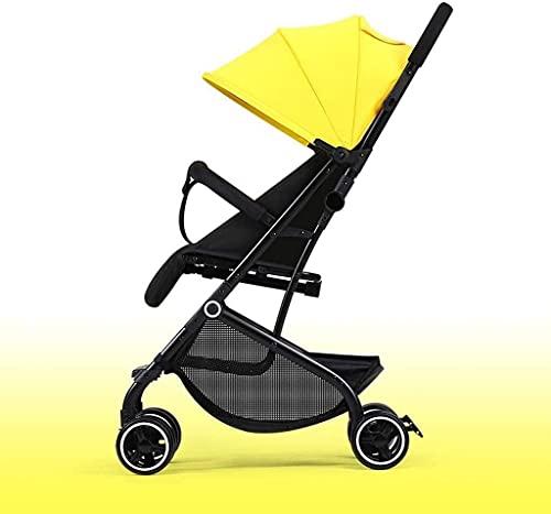 Passeggino del passeggino del passeggino leggero portatile, passeggino leggero ombrello con design sedile reversibile per retro e anteriore fronte, piegata compatta, regolabile sopra