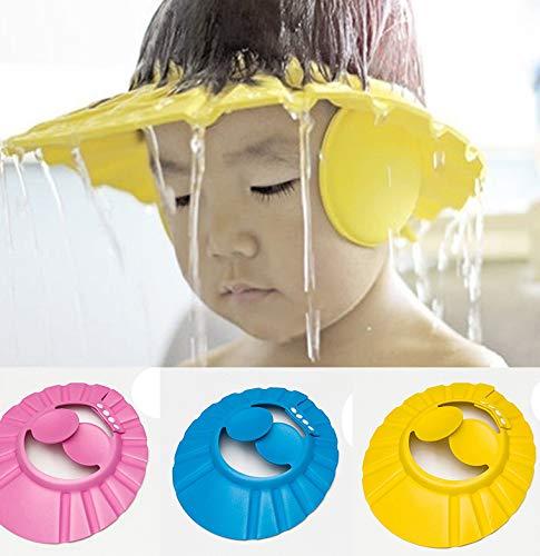 CBEX Soft Baby Children Shampoo Bath Shower Cap Shampooing for Kids Head to Baby Shower Hat Child Bathing Cap Bath Visor Adjustable