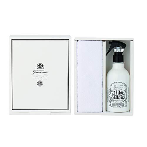 グランセンス ファブリック&エアミストギフト ホワイトムスク 285ml (消臭・除菌スプレー 室内芳香 日本製 アロマ 贈答品 箱入り ベルガモットとミントの透明感ある香り)