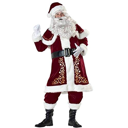 Feynman Ropa de Papá Noel para Navidad Novedad Disfraces para Fiesta Santa Claus Costume XXXL