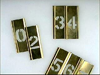 Stencils - Set Of Brass Locking - Figures 1In
