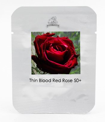 KK 1 Grand emballage, 50 graines, feuilles minces Blood Red Flowers Rare Heirloom Rose Flower Seed # NF419