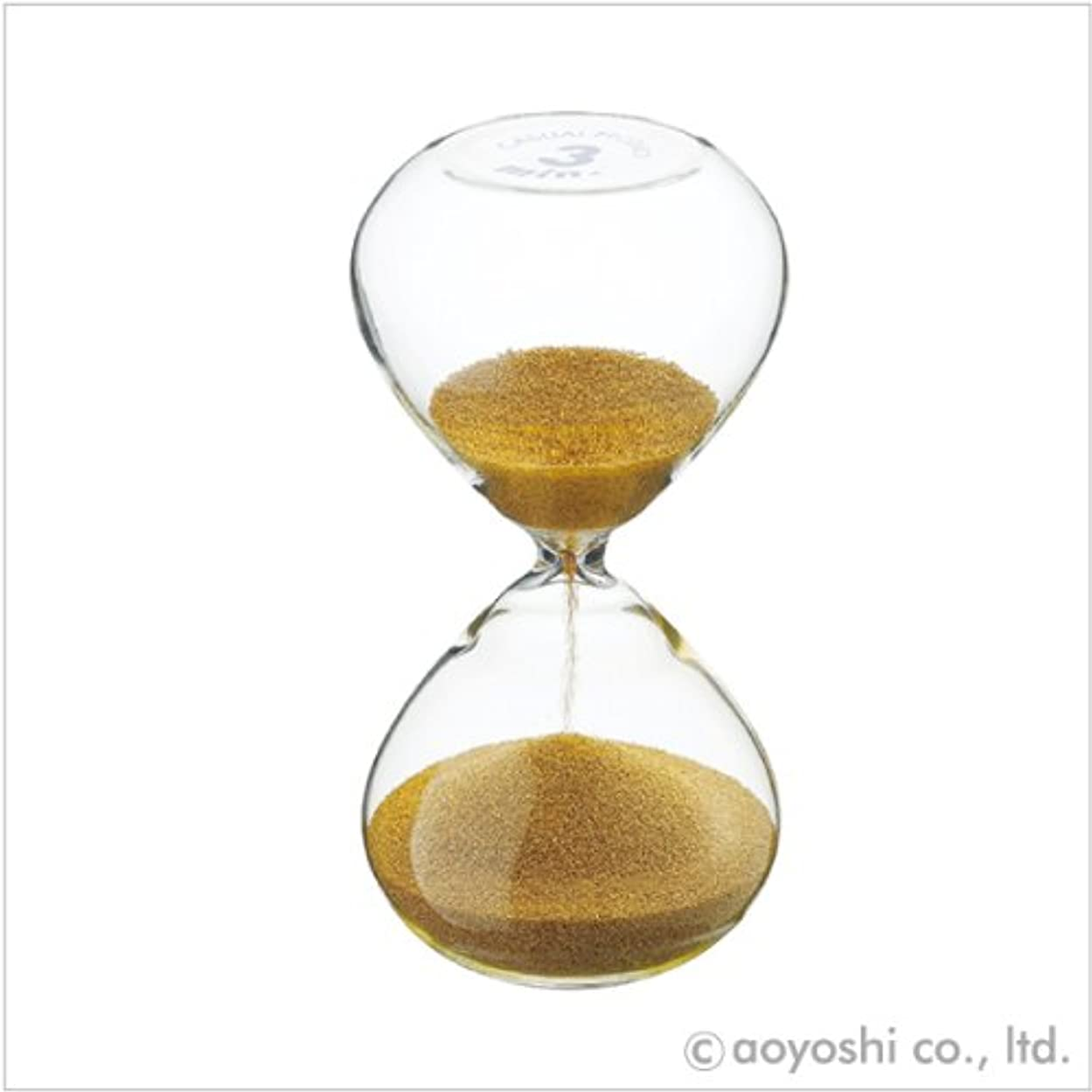 こどもの日性能いらいらするCASUAL PRODUCT プレシャス サンドグラス ゴールド 3分計 019500