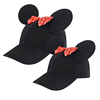 Disney Toddler Minnie Mouse Ears Hat Set of 2 for Mommy and Me Matching Little Baseball Caps Adult and Girl 2-5 Age 2-4 Years