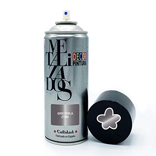 Pintura Spray METALIZADA Gris Perla 400ml imprimacion para madera, metal, ceramica, plasticos / Pinta Radiadores, bicicleta, coche, plasticos, microondas, graffiti
