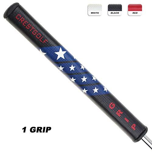 Crestgolf-Golfschlägergriff 2.0, Golf-Putter, Griff, PU, Golfgriff, Antirutsch-Griff, 1 Stück, Schwarz