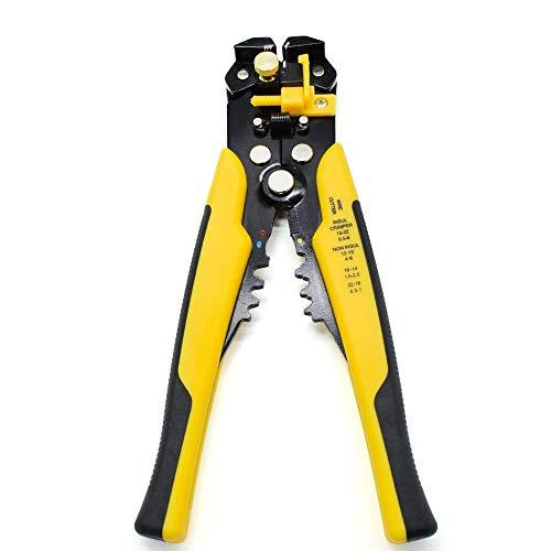 U/D Pimbuster Kabel-Draht-Stripper Cutter Quetschen Automatische Multifunktions Crimpen Stripping Zangenwerkzeuge Elektro (Color : Gelb)