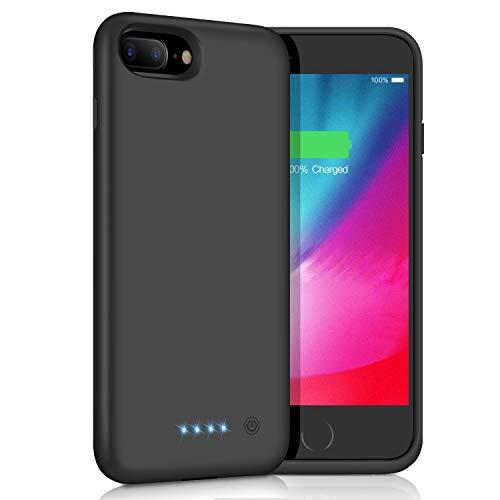 AOPAWA Cover Batteria per iPhone 6 Plus/6s Plus/7 Plus/8 Plus, [8500mAh] Ricaricabile Custodia Batteria per iPhone 8plus/7plus/6Plus/6sPlus [5.5''] Cover Caricabatterie Esterna Portatile Backup Nero