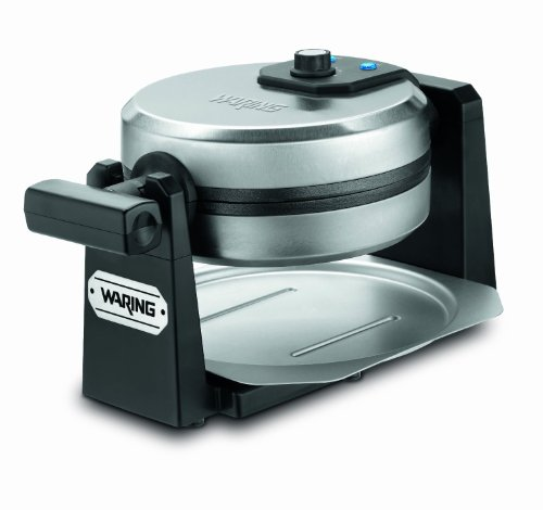 Waring Pro Waffle Maker with Deep 1-Inch Belgian Waffle Grids and Rotary Browning Control Knob, Blue...