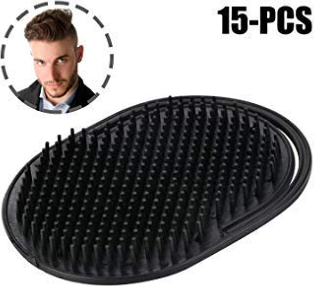旅行者コンペスチュワードKapmore 15 PCS Palm Comb Pocket Comb Creative Scalp Massage Brush Portable Shampoo Comb for Men [並行輸入品]