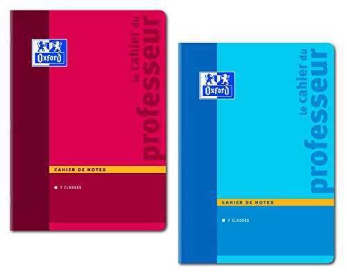 Oxford Enseignants Cahier de Notes Carnet de Bord Papier 90 g 44 Pages A4 (21 x 29,7cm) Coloris Aléatoirs