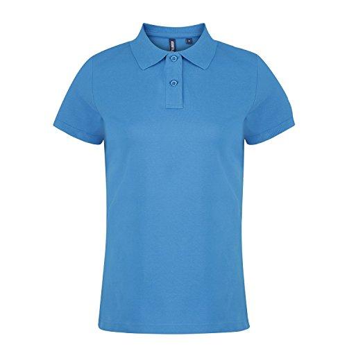 Asquith & Fox Women's Polo, Azul (Sapphire 000), 40 (Talla del Fabricante: Medium) para Mujer