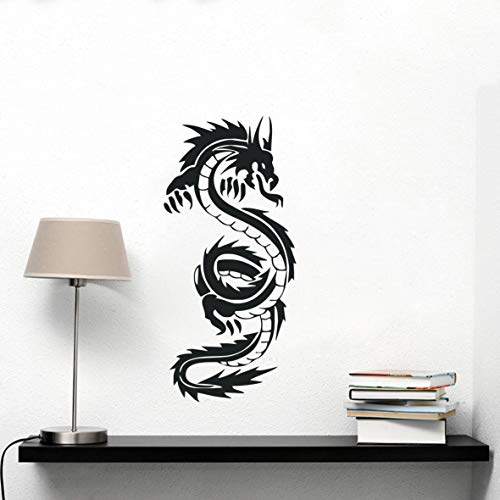 Art Home Decoration Chinese Dragon Wall Sticker Living Room Home Decor Vinyl Removable Wall Mural Dragon Wall Decals for Kids Room Boys Bedroom Y-250 (57x27cm)