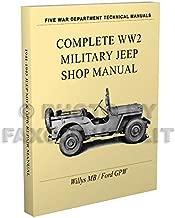 1941-1945 Willys MB Ford GPW Military Jeep Repair Shop Manual Reprint