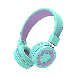 Kids Bluetooth Headphones, iClever BTH02 Kids Headphones with MIC, 22H Playtime, Bluetooth 5.0 & Stereo Sound, Foldable…