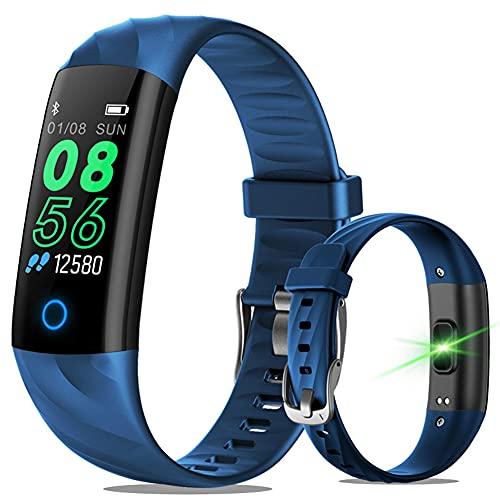 GKMM Pulsera de Reloj Inteligente, Pulsera Inteligente a Prueba de Agua IP68, rastreador de Fitness con presión Arterial/Monitor de frecuencia cardíaca, Reloj Inteligente para Mujeres/Hombres