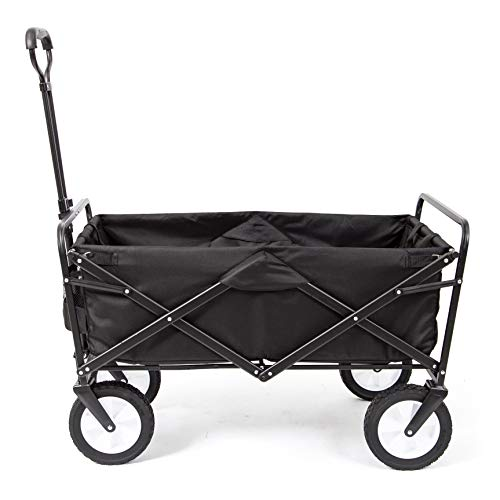 7 | Mac Sports Collapsible Folding Outdoor Utility Wagon, Black
