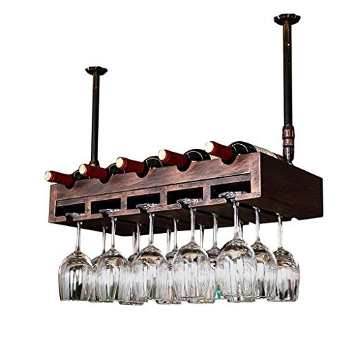 Home Furnishings Bar Unit Floating Shelves Ceiling Wine Racks Wall Mounted Wine Rack | Bottle and Glass Holder | Home and Kitchen Deacute;cor | Storage Rack | Bar Decoration Display Shelf | Multi F