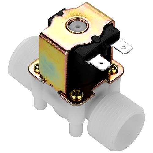 LANTRO JS - Válvula solenoide de plástico de 12 v 3/4 pulgadas,...