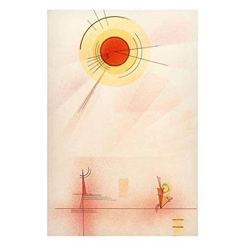 Bilderwelten Magnettafel - Wassily Kandinsky - Strahlen - Memoboard Metall Pinnwand 60 x 40cm