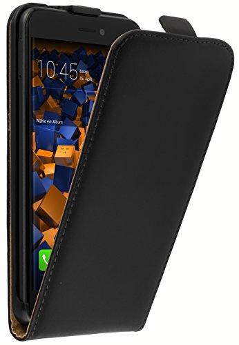 mumbi Tasche Flip Hülle kompatibel mit Huawei P8 Lite 2017 Hülle Handytasche Hülle Wallet, schwarz