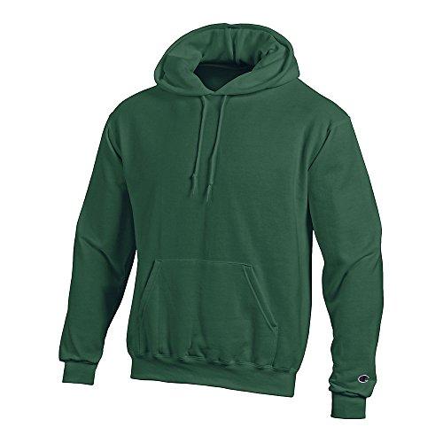 Champion Men's Double Dry Action Fleece Pullover Hood Dark Green