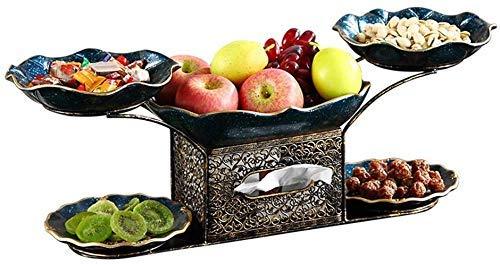 CHNGP Mooi Plat fruit Europese stijl lounge Thuis Plat fruit Creatief fruit Plat fruit Creatieve fruitplaat Grote fruitschaal Decoratieve salontafel decoratie (kleur: lichtgrijs)