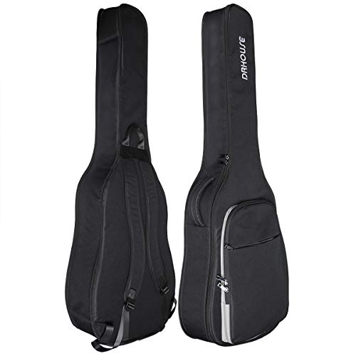 DRHOUSE Acoustic Guitar Soft Case 40 41 42 Inch 10mm Padded Lightweight Classical Folk Gig Bag Black