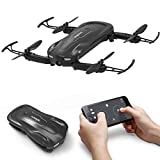 FEATURES: Pocket Size, Foldable Wings, Wifi App Control, 720P HD Camera, Way Point Control, Gravity Sensor Mode, FPV Live Stream, Optical Flow Positioning, Headless Mode, Altitude Hold, Hover, 360 Flip Stunt, 1 Key Take-Off/Landing etc Made From ABS ...
