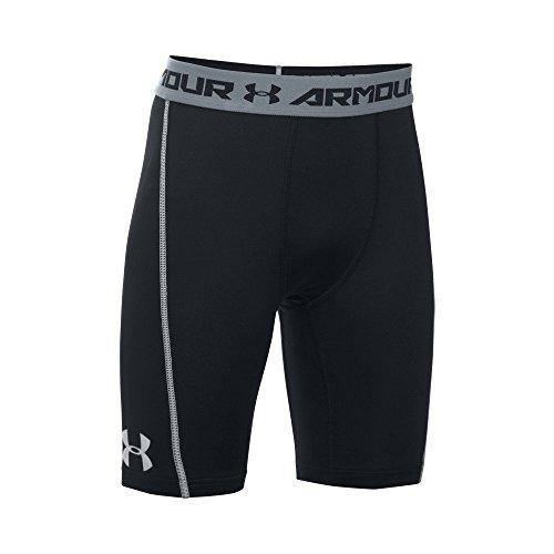 Under Armour Kids Boy's Coolswitch Shorts (Big Kids) Black/Steel Shorts XL (18-20 Big Kids)