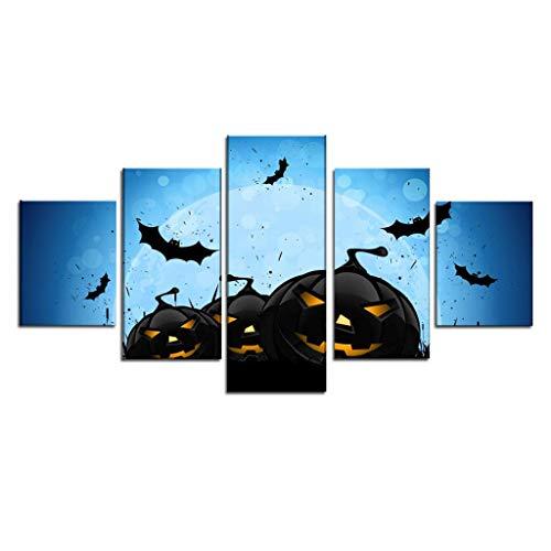 LQH Arte de la Pared Poster decoración casera Moderna 5 de Navidad Decoraciones de Halloween HD Pri (Size : 2)