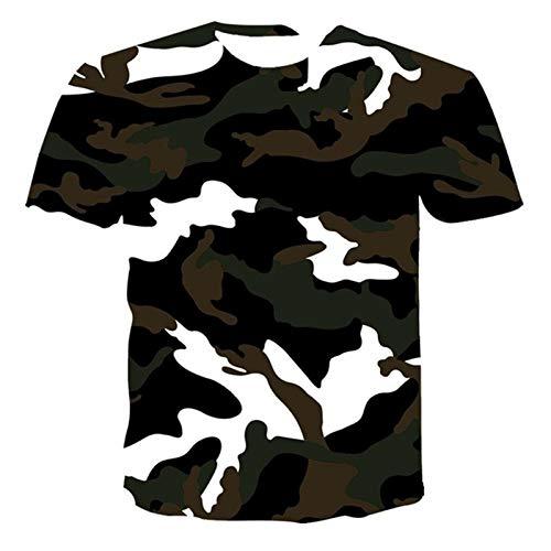 Verano Unisex Camisetas 3D Impresión Camuflaje Tshirts Harajuku Manga Corta Streetwear Niños Boys Tshirt Tops