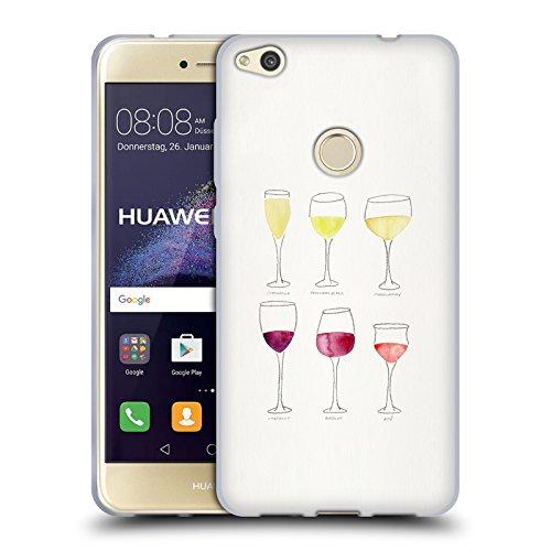 Head Case Designs Licenciado Oficialmente Cat Coquillette Gafas Vino Carcasa de Gel de Silicona Compatible con Huawei P8 Lite (2017)
