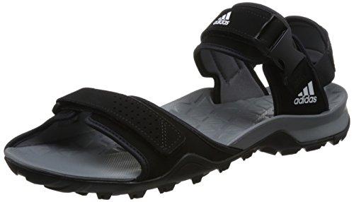adidas Herren Cyprex Ultra Sandal Ii Turnschuhe, 50.0 EU, Schwarz / Grau / Weiß (Negbas / Grivis / Ftwbla), 44 EU