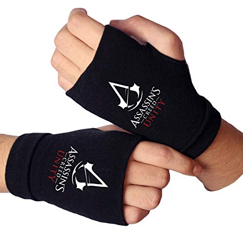 Fgfkljkrelw Assassin's Creed Halbfinger Fingerlose Outdoor-Sporthandschuhe Cross Country Bike Radfahren Cross Country-Handschuhe (Color : A06, Size : One Size)