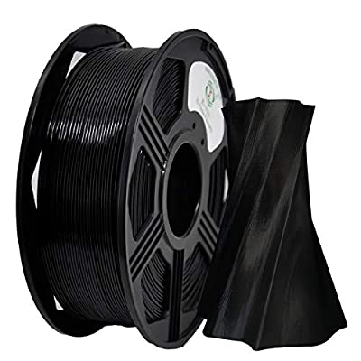 YOYI 3D Printer Filament,PETG Filament 1.75mm 2.2lbs(1kg) Spool, Dimensional Accuracy +/- 0.03 mm,100% Europe Raw Material(black)