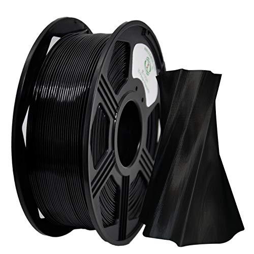 PETG Filament 1,75 mm, YOYI 3D Druckerfilament Filament PETG 1 kg,Dimensionale Genauigkeit +/- 0.02 (Schwarz)