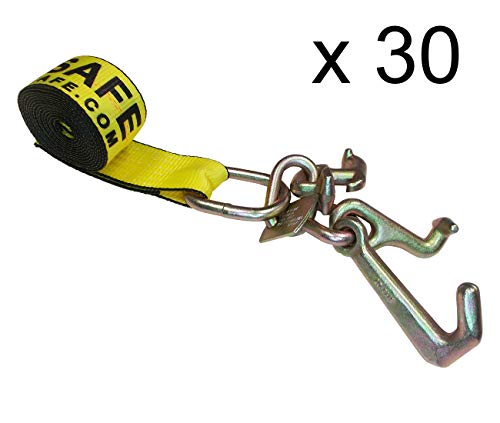 """Purchase Mega Cargo Control (30 - Pack 2"""" x 10' Forged Auto Tie Down G70 R T J Cluster Car Strap..."""