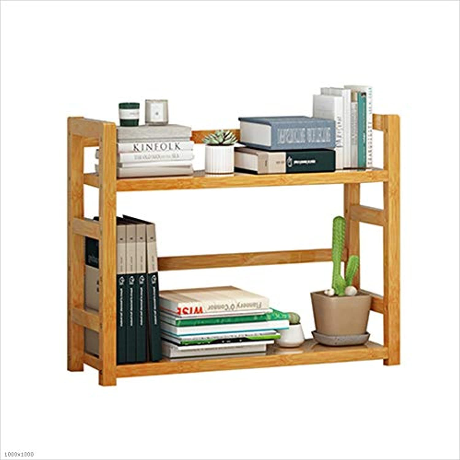 HUO Simple Table Small Bookshelf Creative Rack Simple Modern Dormitory Storage Storage Rack Multi-Size Optional Bookcases (Size   36  43  18cm)
