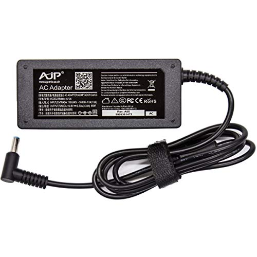 AJP New Replacement For HP15-DA0233NS, Pavilion HP 15-r212na15-r213na Laptop Notebook Adapter 65W Blue Tip Battery Charger Adapter Power Supply 19.5V 3.33 PSU Adaptor + Power Cord