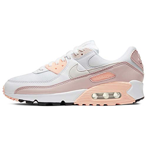 Nike Damen W AIR MAX 90 Laufschuh, White Platinum Tint Barely Rose, 40 EU