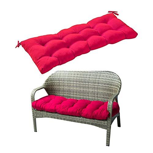 Cojín de algodón para interiores y exteriores, para muebles de jardín, cojines de mimbre para tumbonas, muebles de jardín, patio, tumbona, 130 x 50 cm, 129,5 x 50,8 cm